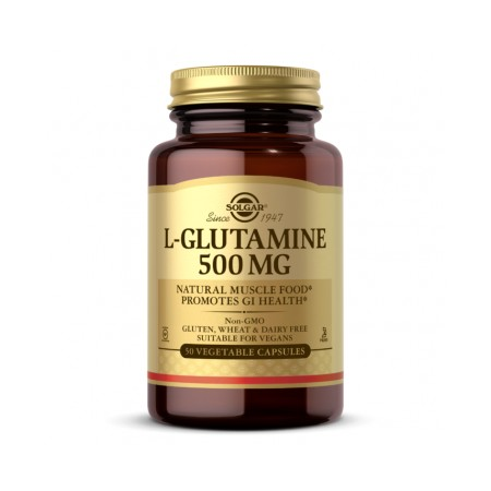 SOLGAR L-GLUTAMINE 500mg 50 caps.
