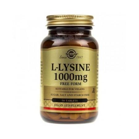 SOLGAR L-LYSINE 1000mg 50 tabletek