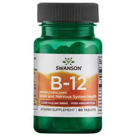 SWANSON WITAMINA B12 5MG METHYLCOBALAMIN 60 tabletek