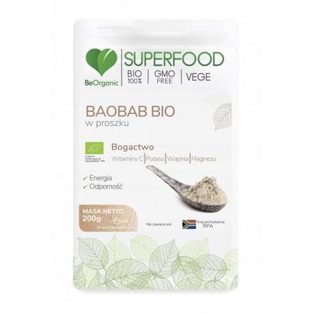 BeOrganic Baobab BIO w proszku 200g