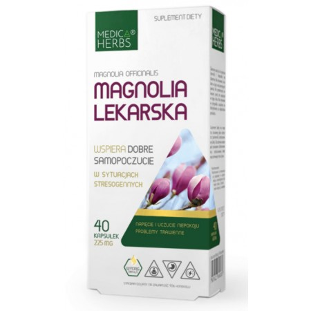 MEDICA HERBS MAGNOLIA LEKARSKA 225mg 40 kapsułek