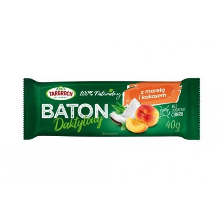 TARGROCH Baton daktylowy z kokosem i morelami 40g