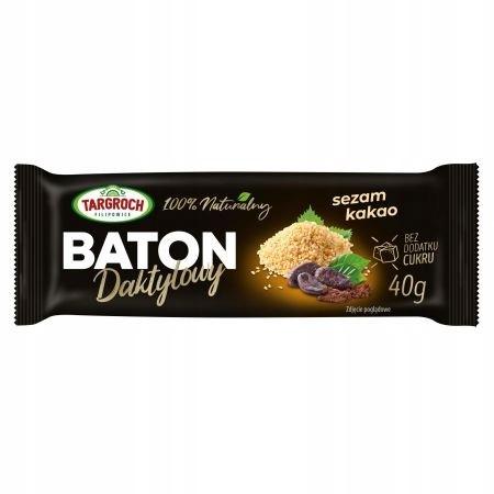 TARGROCH Baton daktylowy z sezamem i kakao 40g