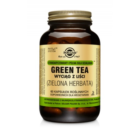 SOLGAR GREEN TEA ( ZIELONA HERBATA ) 60 caps.