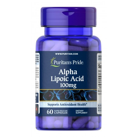 Puritan's Pride Kwas Alfa Liponowy 100 mg 60 kapsułek