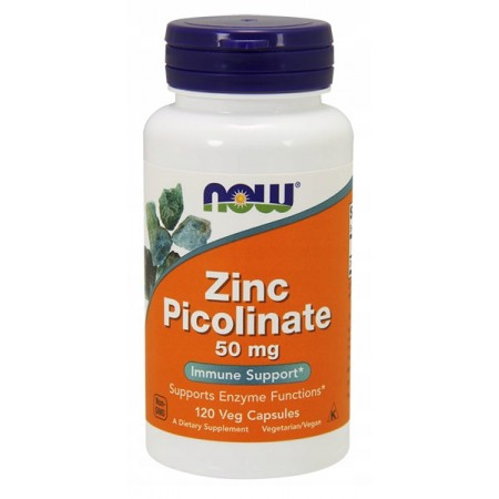NOW FOODS ZINC PICOLINATE 50mg 120 vcaps