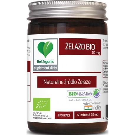 BeOrganic Żelazo BIO 10mg 50 tabletek