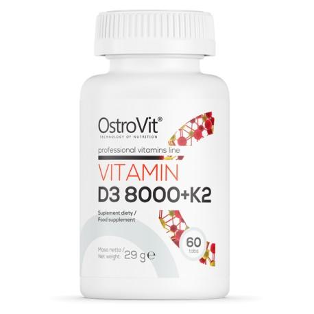 OstroVit Witamina D3 8000 IU + K2 60 tabletek