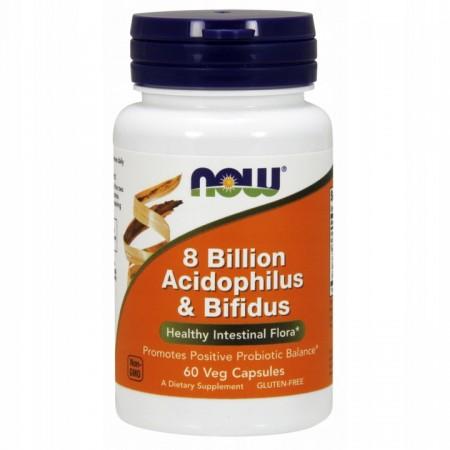 NOW FOODS 8 BILLION ACIDOPHILUS & BIFIDUS 60 vcaps
