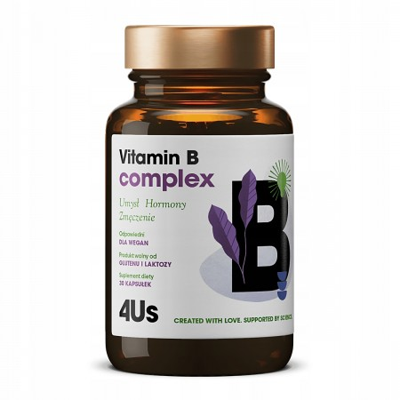 HealthLabs 4US Vitamina B Complex 60 kapsułek