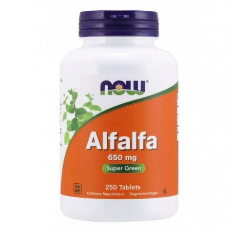 NOW FOODS ALFALFA 650mg 250 tabletek