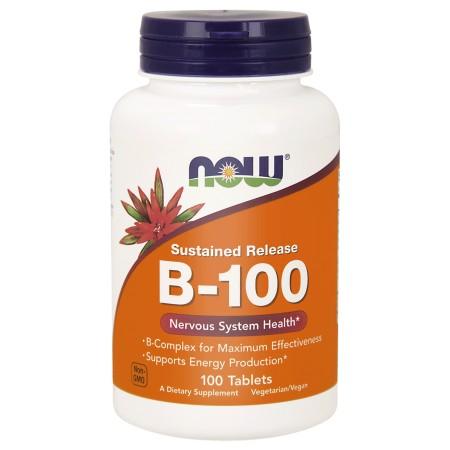 NOW FOODS WITAMINA B-100 KOMPLEKS 100 tabletek