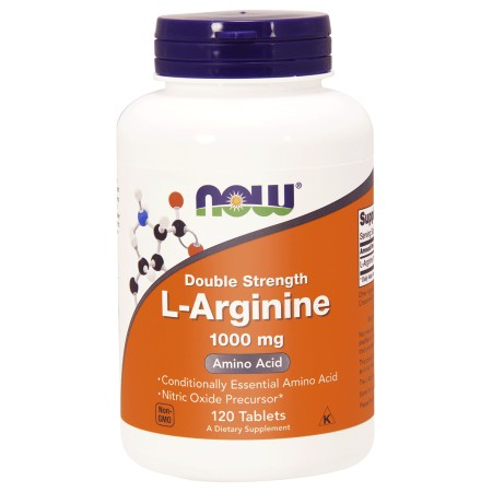 NOW FOODS L-ARGININE DOUBLE STRENGHT 1000mg 120 tab