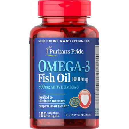 Puritan's Pride Omega-3 Fish Oil 1200mg 100 kapsułek