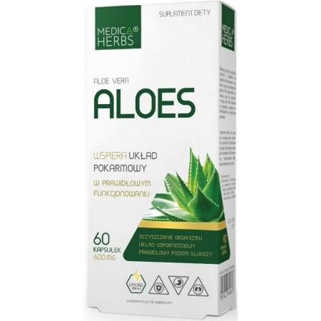 MEDICA HERBS Aloes (Aloe vera) 600mg 60 kapsułek