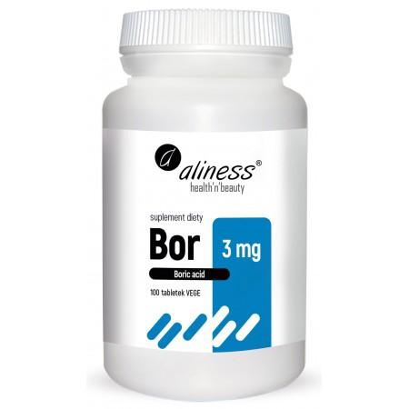 Aliness Bor 3 mg (kwas borowy) 100 tabletek vege