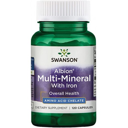 SWANSON MULTI-MINERAL WITH IRON 120 caps.